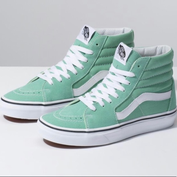 3580bb791d89 Neptune green  True White Vabs sk8-hi shoes. M 5c4c00b4c89e1d2c39155154.  Other Shoes you may like. Vans Old Skool ...